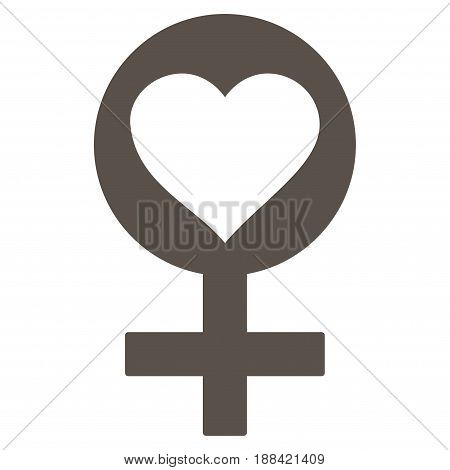 Woman Love Symbol flat icon. Vector grey symbol. Pictogram is isolated on a white background. Trendy flat style illustration for web site design, logo, ads, apps, user interface.