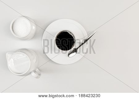 3d illustration of a coffee cup isolated on white background