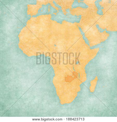 Map Of Africa - Zambia