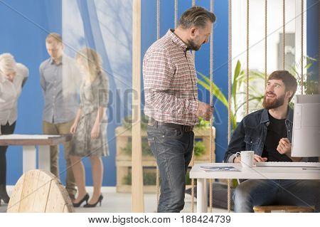 Boss Talking With An Intern