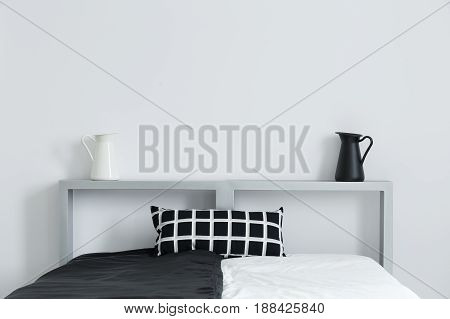 Bed With Cushion And Decorations