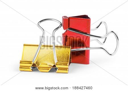 binder clips isolated on white background. Binder, Administrative, Filing