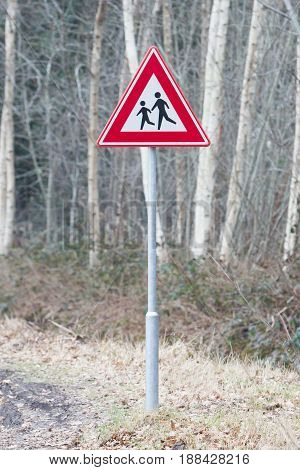 Attention Children Roadsign