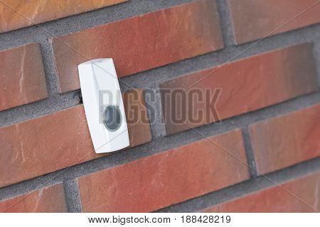 Simple Doorbell On A Brick Wall