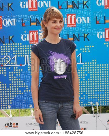 Giffoni Valle Piana Sa Italy - July 18 2011 : Paola Cortellesi at Giffoni Film Festival 2011 - on July 18 2011 in Giffoni Valle Piana Italy