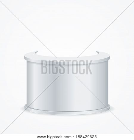 Realistic Template Blank White Reception Empty Mock Up Design Web for Business Office. Vector illustration