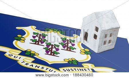 Small House On A Flag - Connecticut