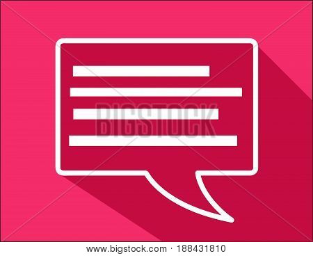 Abstract Speech bubble illustration with colored background