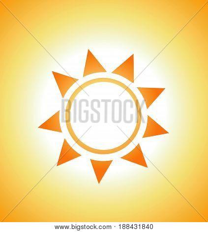Vector illustration of sunrise sun abstract colored design