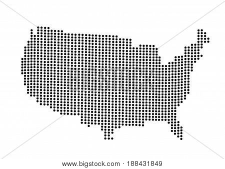 USA map illustration on white background art