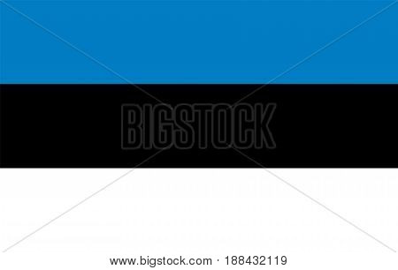 Estonia flag, vector illustration Official symbol of the country