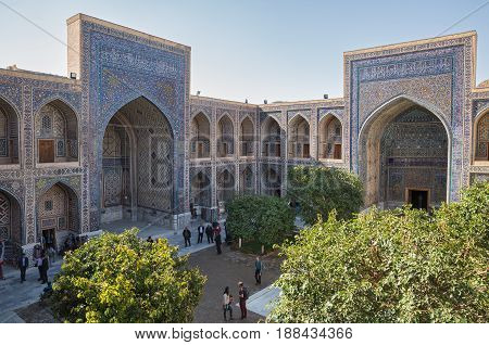 Ulugh Beg Madrasah, Courtyard