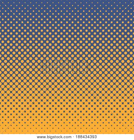 Halftone abstract background of circular elements in orange and complement colors and in the direction from bottom to top