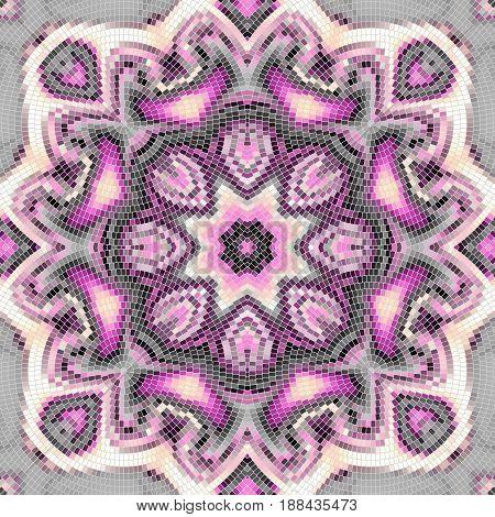 Seamless background pattern. Decorative round mosaic pattern. Gamma of pastel colors.