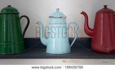 Antique Blue Kettle