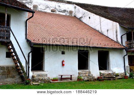 Fortified medieval saxon church in the village Harman, Transylvania, Romania.