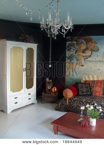 photograph of an extraordinairy and well designed livingroom