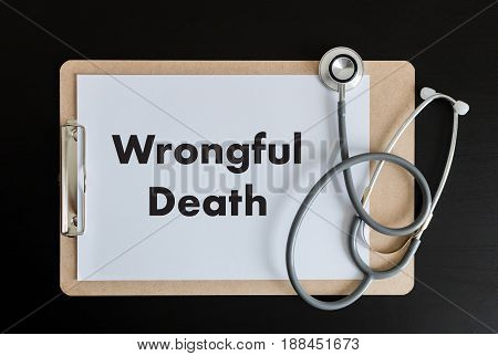Wrongful Death Doctor Talk And  Patient Medical Working At Office