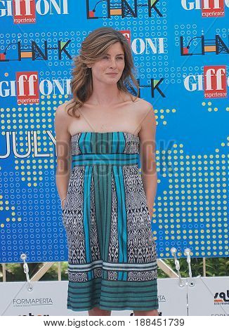 Giffoni Valle Piana Sa Italy - July 19 2011 : Vittoria Puccini at Giffoni Film Festival 2011 - on July 19 2011 in Giffoni Valle Piana Italy