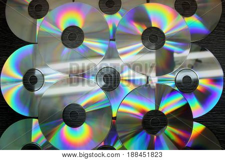 CD and DVD discs as a background image