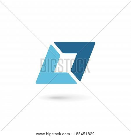 Abstract Logo Icon With Letter L. Vector Design Template Elements.