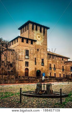 Medieval Rocca Sanvitale Castle In Fontanellto