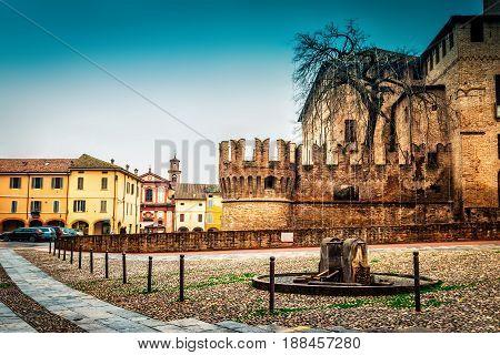 Fontanellato And Medieval Rocca Sanvitale Castle