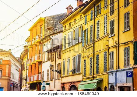 Old Colorful Houses In Parma