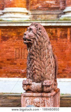 Ancient Lion Sculpture