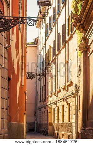 Narrow Old Lane In Parma