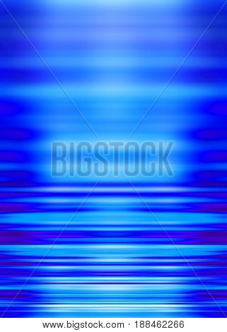 Calm blue waves background with selective focus