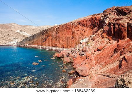 Akrotiri Red Beach, Santorini