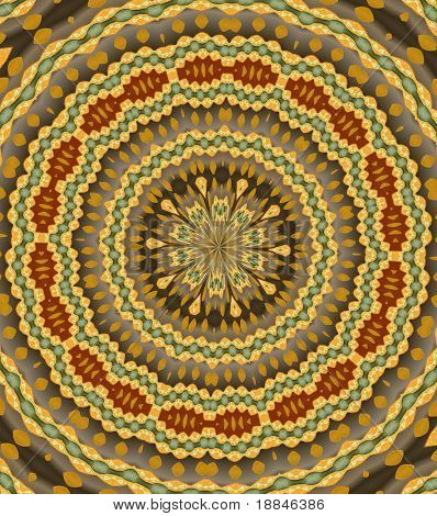 digitally created mandala background