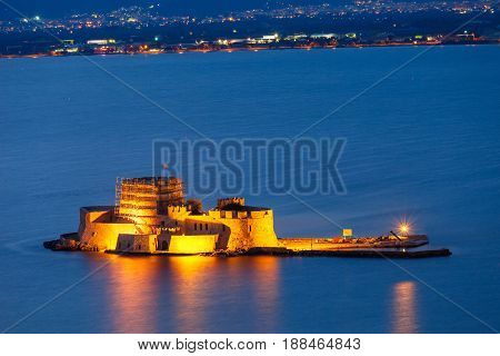 Bourtzi Castle In Nafplio