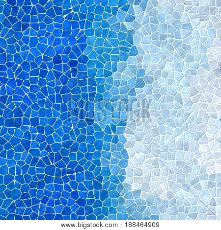 abstract nature marble plastic stony mosaic tiles texture background with white grout - sky and light blue gradient colors