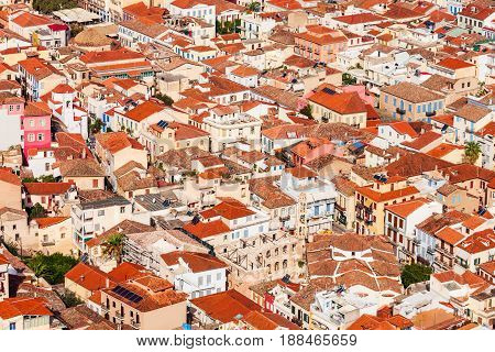 Nafplio Aerial Close-up View
