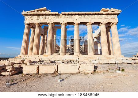 Parthenon Temple In Athens