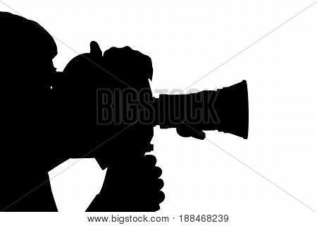 Silhouette Of Man Camera Side.