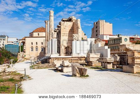 Hadrian's Library In Athens