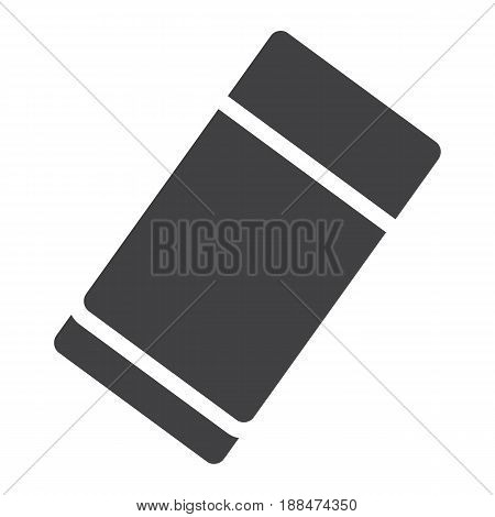 Eraser solid icon, education and school, rubber vector graphics, a filled pattern on a white background, eps 10.