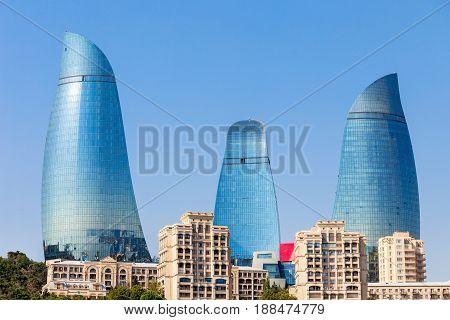 Flame Towers In Baku