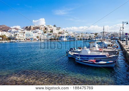 Port In Naxos, Greece