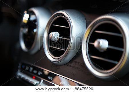 Air conditioner in compact car. Auto conditioner