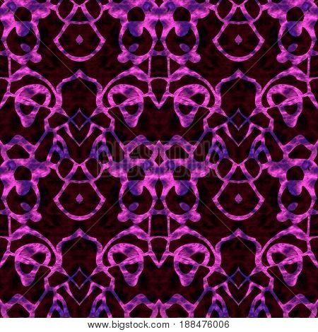 Seamless Abstract Pattern In Purple, Maroon And Black Tones
