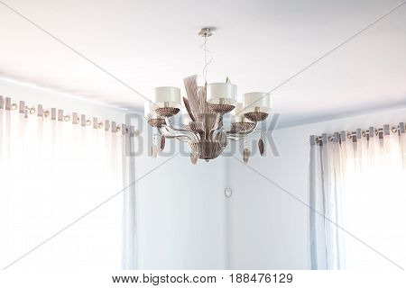 Chandelier. Modern style. Beautiful lamp at home