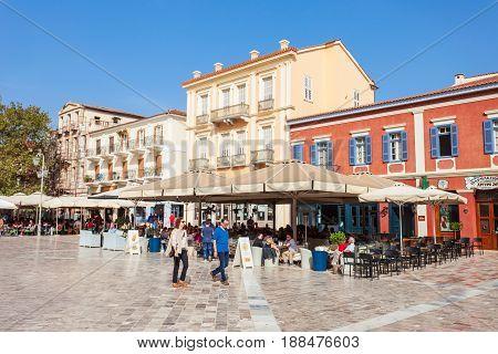 Syntagma Square In Nafplio