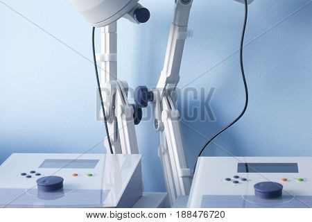 The Program Of Medical Rehabilitation. Microwave Therapy Room. Are The Apparatus For Treatment And R
