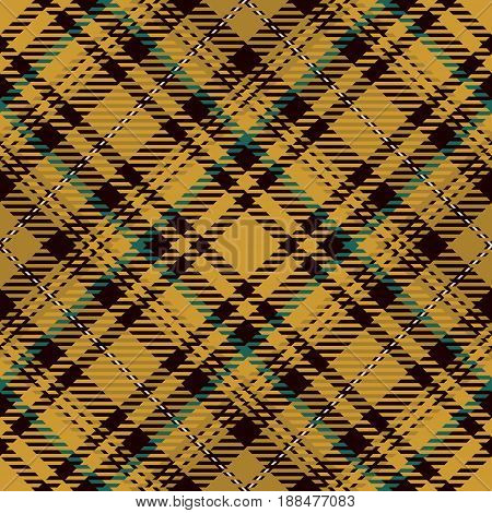 Tartan Seamless Pattern Background. Gold Black Green and White Plaid Tartan Flannel Shirt Patterns. Trendy Tiles Vector Illustration for Wallpapers.