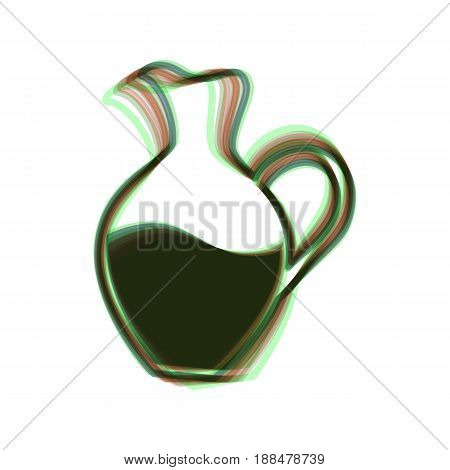 Amphora sign. Vector. Colorful icon shaked with vertical axis at white background. Isolated.