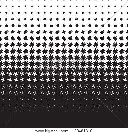 Halftone pattern of black elements on a white background
